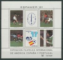 Argentinien 1981 Fußball-WM Spanien Block 28 Postfrisch (C22901) - Argentinien