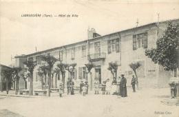 LABRUGUIERE HOTEL DE VILLE  AVEC CACHET 76e REGIMENT INFANTERIE  AU VERSO - Labruguière