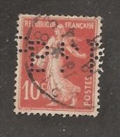Perforé/perfin/lochung France No 138 BPP Banque Commerciale D'Escompte Badon Pascal Pommier - France