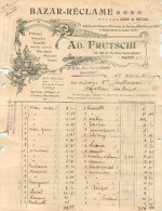 Facture Ancienne  Nancy   (37) - Petits Métiers