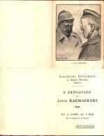 RARE Illustrateur Louis Raemaekers - Carte D'invitation 2e Exposition à Galeries Devambez, La Race Supérieure - Autres Illustrateurs