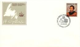 1983   Sir Humphrey Gilbert, Map Of Newfoundland  Sc 995 - Premiers Jours (FDC)