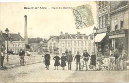10 ROMILLY  SUR  SEINE   PLACE  DU  MARCHE - Romilly-sur-Seine