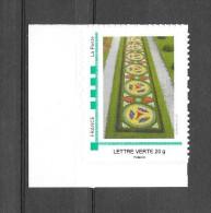 A111 MTM Parterre De Fleurs Lettre Verte 20gr Avec Bdf N++ - Gepersonaliseerde Postzegels (MonTimbraMoi)