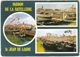 Carte Postale 21.  Saint-Jean-de-Losne Pardon De La Batellerie  Fête Des Péniches Trés Beau Plan - France