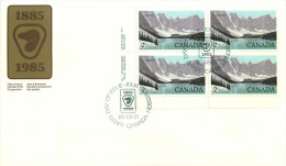 1985  Banff National Park   $2Definitive     Sc 936   Plate Block Of 4 - First Day Covers