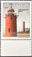 Latvia, 2008, Mi. 733, Lighthouse, MNH - Fari