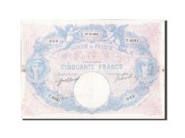 France, 50 Francs, 50 F 1889-1927 ''Bleu Et Rose'', 1912, KM:64e, 1912-02-17,... - 1871-1952 Antichi Franchi Circolanti Nel XX Secolo