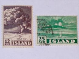 ISLAND / ISLANDE  1948 , SCOTT # 246,7 - Usati