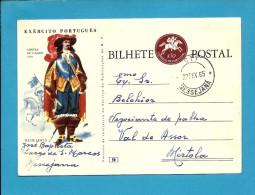 MESSEJANA - VALE De AÇOR - 1965 - EXÉRCITO PORTUGUÊS - N.º 9 - INTEIRO POSTAL STATIONERY - PORTUGAL - Enteros Postales