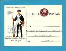 BEJA - VALE De AÇOR - 1960's - EXÉRCITO PORTUGUÊS - N.º 12 - INTEIRO POSTAL STATIONERY - PORTUGAL - Enteros Postales