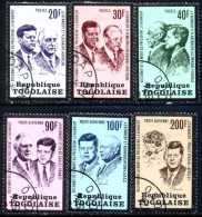 John F. Kennedy, Adolf Schaerf, Harold MacMillon, Konard Adenauer, Togo Stamp SC#856-858, C206-C208 Used Set - Togo (1960-...)