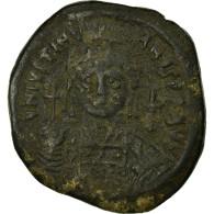 Monnaie, Justinien I, Follis, Constantinople, TTB, Cuivre, Sear:163 - Byzantines