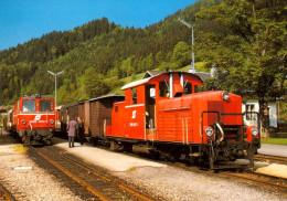 AK Eisenbahn NÖ ÖBB Lunz Am See 1988 Schmalspur-Lok 2091 007-1 Österreich Zug A. Simmering/ÖSSW Lokomotive Narrow Gauge - Trains