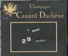 calendrier perp�tuel champagne