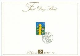 Firt Day Sheet EUROPA Belgium 2000. Construction Of Europe. Stamp COB N 2922. - Europa-CEPT