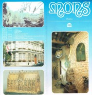 Ancien Dépliant Sur Les Musées De La Ville De Mons, Belgique (vers 1995) - Dépliants Touristiques