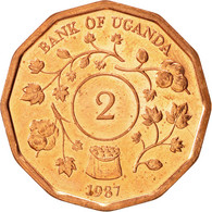Ouganda, République, 2 Shillings 1987, KM 28 - Ouganda