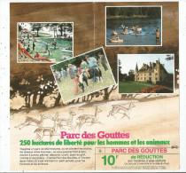 Publicité , Parc Des GOUTTES , 03 , Jaligny Sur Bresbre , Bon De Réduction  10 Francs 4 Pages , 2 Scans - Advertising