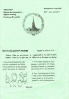 Ancienne Brochure Sur Houdeng Goegnies Messe Du Centenaire De L'Eglise St-Géry (2007) - Dépliants Touristiques