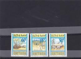 Stamps ERITREA 1998 SC 308-310 DWELLINGS HOUSES IPAZ ITALY MNH SET ER#12 LOOK - Eritrea