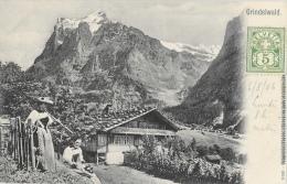 Grindelwald - Chalet - Tampon Hôtel Bahnhof Terminus - Carte Précurseur N°11081 - BE Berne