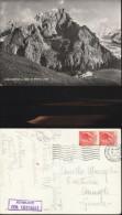3899) VALLE D'AOSTA COURMAYEUR COLLE CHECROUIT E MONTE BIANCO CASETTE SULLO SFONDO VIAGGIATA 1954 - Italia