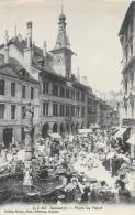 Lausanne - Place La Palud Un Jour De Marché - Edition Jullien Frères - Carte J.J. N°655 Non Circulée - VD Vaud