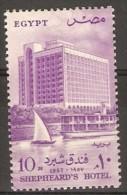 Egypt - 1957 Shepheards Hotel 10m MNH **  SG 530  Sc 398 - Unused Stamps
