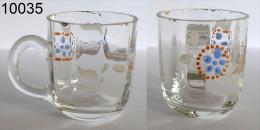 Réf 3b1 - Petit Verre émaillé Chope Avec Anse - Glass & Crystal