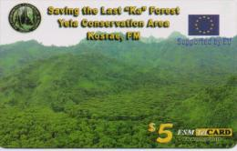 MICRONESIA PHONECARDS SAVING THE LAST KA FOREST  5$-USED(bx1) - Marshall Islands