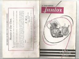 Carnet Technique , F.M.L. , Levallois , LE SUPER MOTEUR JUNIOR ,  19 Pages , 4 Scans , Frais Fr : 1.95€ - Oude Documenten