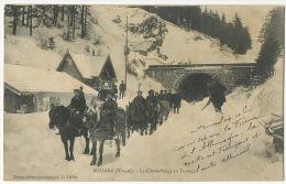 Attelage De Chevaux Chasse Neige A Bussang Vosges Frontiere Franco Allemande Timbrée Le Thillot - Postcards