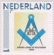 Masonic Symbol, Compass, Grand Lodge Of Southern INDIA, Personalized Stamp, Freemasonry, MNH Netherlands - Freemasonry