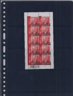 Belgie - Belgique 3480 Velletje Van 10 Postfris - Feuillet De 10 Timbres Neufs  -  Koning Albert II - 0,52 - Feuilles Complètes