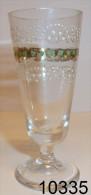 Réf 1e6  - Petit Verre émaillé Sur Pied - Glas & Kristall