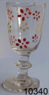 Réf 1e7  - Petit Verre émaillé Sur Pied - Glass & Crystal
