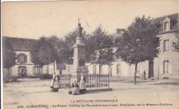 Cpa-56-cleguerec-animée-place ,statue Du Marechal Des Logis Pobeguin, Mission Flatters-edi Waron N°9081
