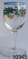 Réf 1b2  - Petit Verre émaillé Sur Pied - Glas & Kristall