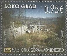 CG 2015-367 SOKO GRAD, CRNA GORA MONTENEGRO, 1 X 1v, MNH - Montenegro