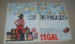 Publicité De 1965 Sur Les 36 Pièces D'or Et D'argent, Le Trésor Du Galion Du Café Legal Sur 2 Pages - Vieux Papiers