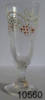 Réf 1f8  - Petit Verre émaillé Sur Pied - Glass & Crystal