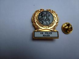 Beau Pin´s  , Police Nationale , US Police Rouen , Seine Maritime , Athlétisme Course à Pied - Police
