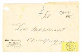 Waagrechtes Paar 15Rp. Sitzende 13.10.1880 Dachsen Auf  Chargé Brief Nach Andelfingen - 1862-1881 Helvetia Assise (dentelés)