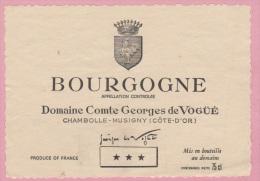 Etiquette De Vin - FRANCE - BOURGOGNE - Domaine Comte Georges De Vogüé. Brrrrrrrrrrrrr - Labels