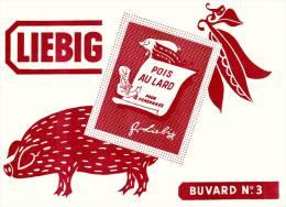 Liebig  - Pois Au Lard  - Cochon - Format  20 X 14.5 Cm - Alimentaire