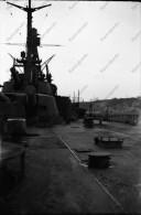 P76 - BREST - Pont d�un navire du guerre - photo + n�gatif ancien
