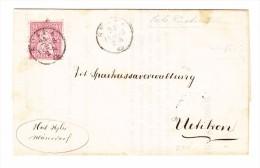 Notariat Brief STAFA 21.2.1868 Mit 10Rp. Sitzende Auf Rückseite Schiffsbureau R.Ufer Stempel - 1862-1881 Sitzende Helvetia (gezähnt)