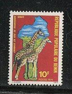 (cl.12 - P.19) Benin ** N° 458 (ref. Michel Au Dos) - Girafes Et Carte  - - Girafes