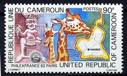 "(cl.12 - P.20) Cameroun ** N° 684 (ref. Michel Au Dos) - ""Philexfrance 82"" Girafes - - Girafes"